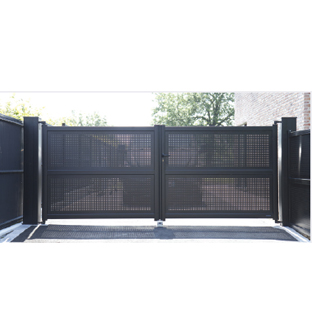 Portails aluminium motoris s profalux profalux pro - Habillage poteau portail ...
